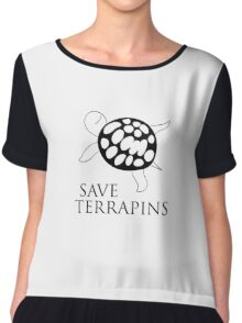 Save Terrapins Chiffon Top