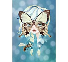 Niella Butterfly Girl Photographic Print