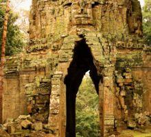 Gate to Angkor Thom in Cambodia Sticker