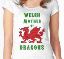 Welsh Mother of Dragons Women's Fitted Scoop T-Shirt