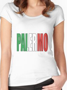Palermo. Women's Fitted Scoop T-Shirt