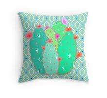 Pear Cactus Throw Pillow