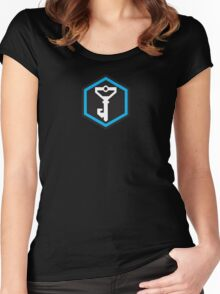 Ingress Resistance Logo Inverse Women's Fitted Scoop T-Shirt