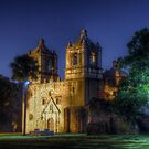 Nighttime at San Juan Mission by Terence Russell