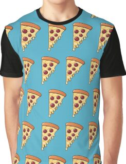 Pepperoni Pizza Passion - Blue Graphic T-Shirt