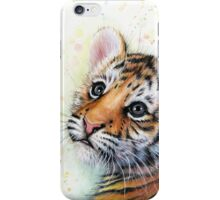 Tiger Cub Watercolor Painting iPhone Case/Skin