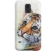 Tiger Cub Watercolor Painting Samsung Galaxy Case/Skin