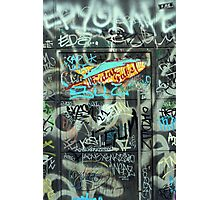 Graffiti on a door Photographic Print