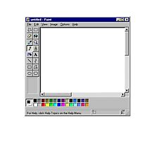 Microsoft Paint Blank Screen Photographic Print