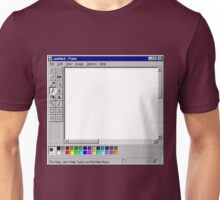 Microsoft Paint Blank Screen Unisex T-Shirt