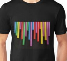 Red Yellow blue and Green strays Unisex T-Shirt