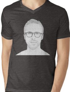 Hey Girl - Black and White Mens V-Neck T-Shirt