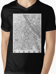 Vienna Map Line Mens V-Neck T-Shirt