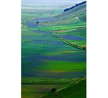 Piana of Castelluccio seen from above Photographic Print