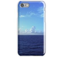 Cloud Line Over the Caribbean  iPhone Case/Skin