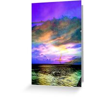 Multi Color Sunset at Anclote Pier Greeting Card