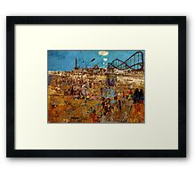 Day Trip to Blackpool  Framed Print