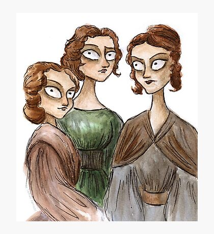 The Bronte Sisters Photographic Print
