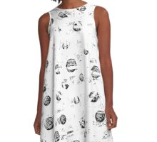 White and gray soul A-Line Dress