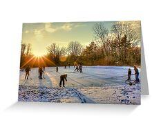 Ice Skating at the Park Greeting Card