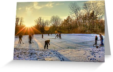 Ice Skating at the Park by Bill Wetmore