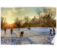 Ice Skating at the Park Poster