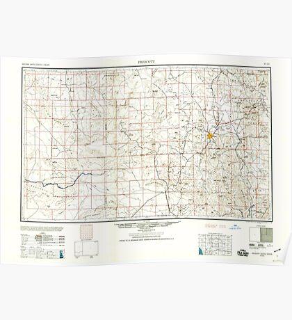 USGS TOPO Map Arizona AZ Prescott 315575 1960 250000 Poster