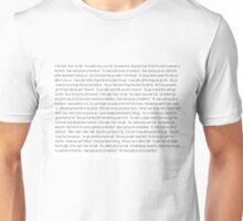 HEARTLESS FULL LYRICS PRINT DESIGN Unisex T-Shirt