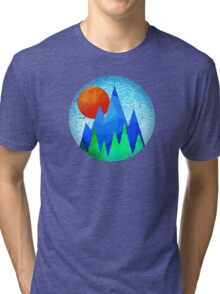 Mountain Sunrise (vintage look) Tri-blend T-Shirt