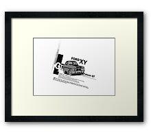 Ford Falcon XY GT HO Car toon, Freddy in grey Framed Print