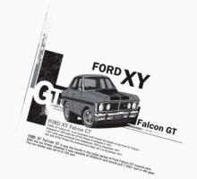 Ford Falcon XY GT HO Car toon, Freddy in grey by UncleHenry