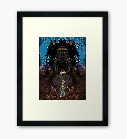 GH7 The Haunted House Framed Print