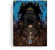 GH7 The Haunted House Canvas Print