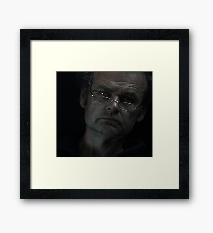 Face to face . Selfie . Dr.Andrzej Goszcz. Minolta A1. Framed Print