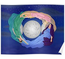 Triple Goddess' Blessing by Kevenn T. Smith Poster