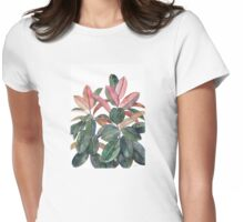 Rubber Plant Womens Fitted T-Shirt