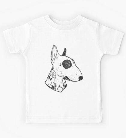 Tattooed Bullterrier Kids Tee