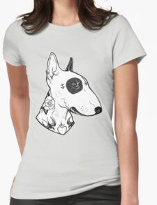 Tattooed Bullterrier Womens Fitted T-Shirt