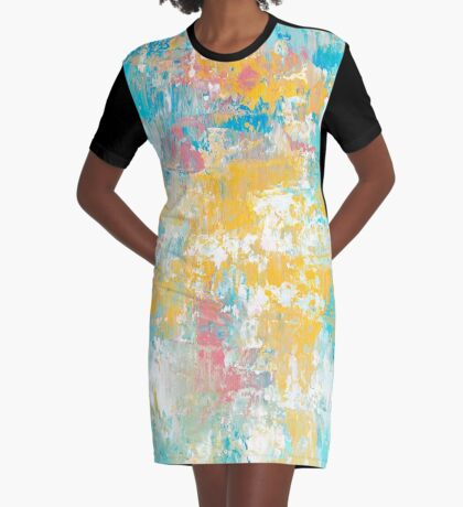 Winter Sunrise Graphic T-Shirt Dress