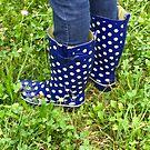 Blue Rain Boots by Christine Anna Wilson