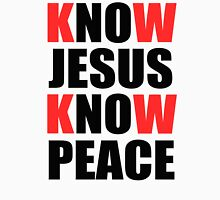 Know Jesus Know Peace  Men's Baseball ¾ T-Shirt