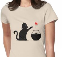 Black Cat & Red Fish Womens Fitted T-Shirt