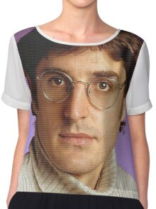 Louis Theroux All Over Print Chiffon Top