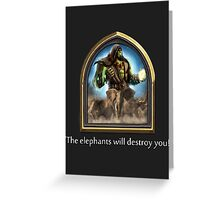 Hearthstone - Thrall Elephants Emote Greeting Card