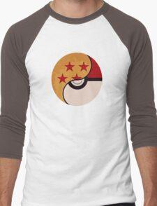 Pokemon DragonBall Fusion  Men's Baseball ¾ T-Shirt