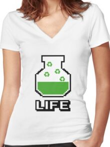 Life Potion Women's Fitted V-Neck T-Shirt
