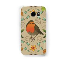 Autumn Robin Pattern Samsung Galaxy Case/Skin