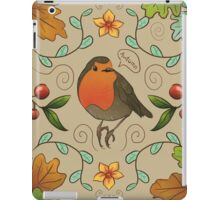 Autumn Robin Patern iPad Case/Skin
