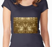 The Woods Mirrored in Sepia Tone Women's Fitted Scoop T-Shirt