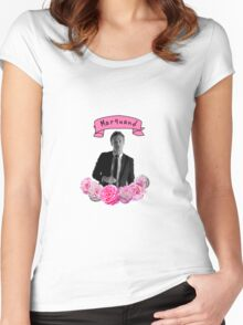 Ross Marquand Flower Design Women's Fitted Scoop T-Shirt